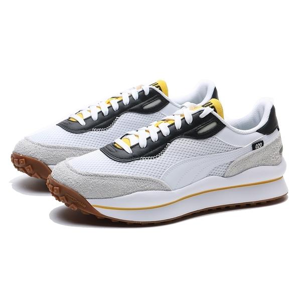 PUMA 休閒鞋 STYLE RIDER PETROL SPILL 白灰黃 情侶鞋 男女 (布魯克林) 37338203