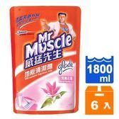 威猛先生 地板清潔劑 補充包-完美花香 1800ml (6入)/箱【康鄰超市】