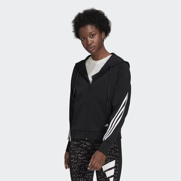 Adidas 女款黑色運動連帽外套-NO.GL0339