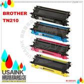 USAINK☆Brother TN-210BK/ TN210C/ TN-210M/ TN-210Y (1組4色)相容碳粉匣  適用:HL-3040CN/MFC-9120CN/MFC-9010CN/TN210