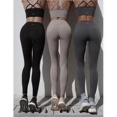 彈力緊身健身褲秋冬款跑步速干運動褲高腰提臀瑜伽褲女外穿