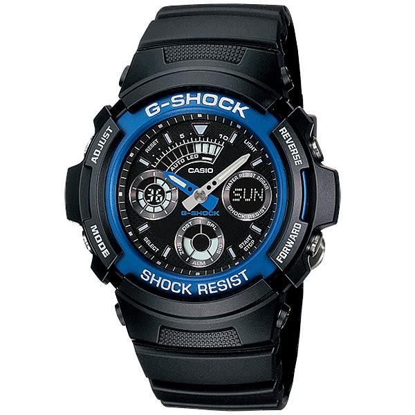 台南時代鐘錶CASIO卡西歐G-Shock宏崑公司貨AW-591-2A多功能雙顯運動錶
