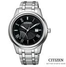 CITIZEN 星辰 光動能商務 手錶(AW7001-98E) 黑/41.3mm