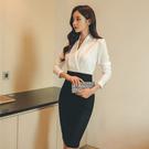 OL洋裝 秋裝女裝ol職業連身裙春秋氣質時尚顯瘦修身性感包臀裙子