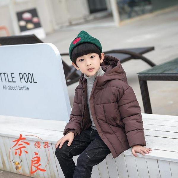 全館83折 男童外套羽絨棉服加厚棉衣外套中大童冬裝連帽棉襖