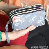手拿包零錢包女長款布藝三層拉鍊手包女士錢包大容量大屏手機包袋 衣間迷你屋