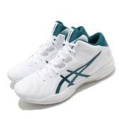 Asics 籃球鞋 Gelhoop V13 男鞋 白 綠 日式 輕量 緩震 亞瑟士【ACS】 1063A035101
