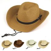 草帽 皮帶釦 牛仔帽 爵士帽 可折疊 大帽簷 遮陽 男帽 草帽【JNZ0001】 icoca  04/12