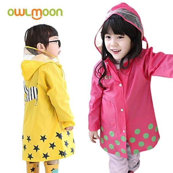 smally時尚可愛卡通男女兒童寶寶雨衣雨披套裝更優惠輕便透氣環保