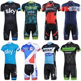夏季速干騎行服短袖套裝定制男女款上衣短褲山地自行車隊版更大碼