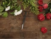 園藝剪刀原素品制純鋼園藝剪刀修枝剪插花剪日式簡約設計古樸園林剪刀家用 免運 99一件免運