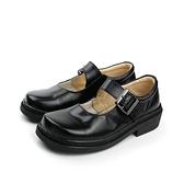學生皮鞋 黑色 真皮 女鞋 no005