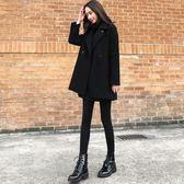 毛呢外套 韓版 Chic赫本風短款大衣 花漾小姐【預購】