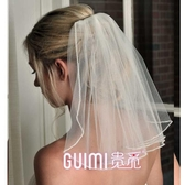 旅拍新娘頭紗女短款森系簡約拍照結婚婚禮超仙百搭婚紗頭紗頭飾