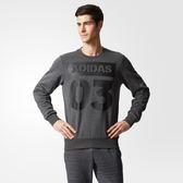 Adidas GFX Sweater 03 男 灰 黑 時尚大學T Tee 長袖 T桖 Fleece 衛衣 饒舌歌手 帽T CF4791
