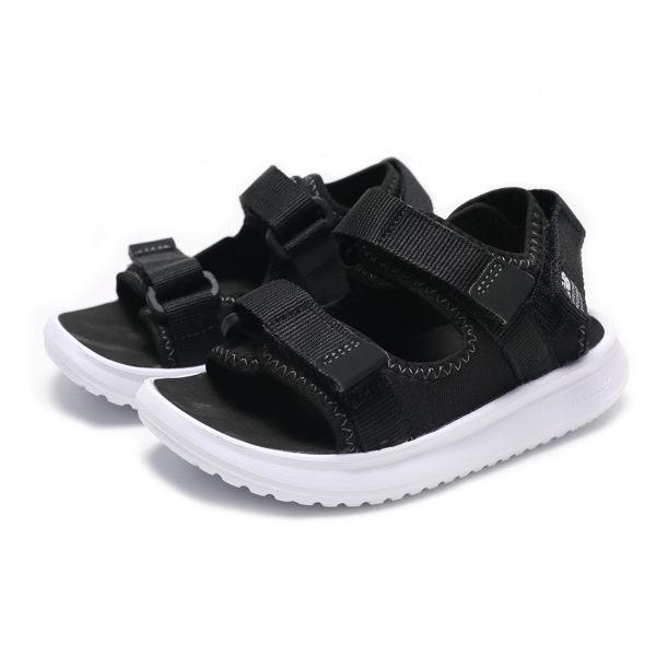 NEW BALANCE 750 黑白 寬楦 黏帶 運動 涼鞋 中童 (布魯克林) YH750BK