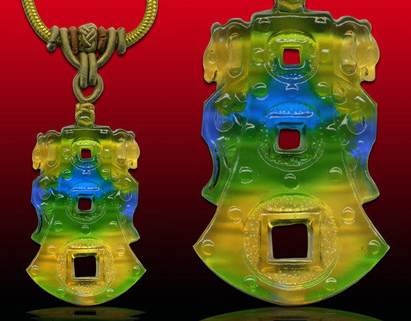 鹿港窯~居家開運水晶琉璃項鍊~乾隆 附精美包裝 ◆免運費送到家◆