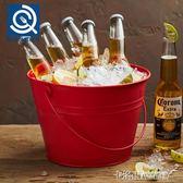 冰桶 創意紅色大冰桶歐式香檳桶紅酒啤酒冰塊桶KTV酒吧用具裝冰塊的桶 全館免運