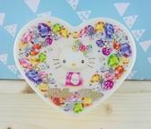【震撼  】Hello Kitty 凱蒂貓KITTY 心形飾品盒寶石圖案XL