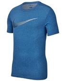 Nike 男圖案圓領上衣(寶藍色)