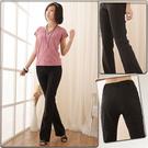 西裝褲--輕鬆纖腿韓版中央車線休閒氣質中...