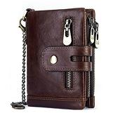 男錢包駕駛證一體潮牌真皮軟牛皮男士皮夾拉鏈短款男式卡包鑰匙包『潮流世家』