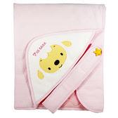 優生 綿羊素色造型包巾-藍/粉【愛買】