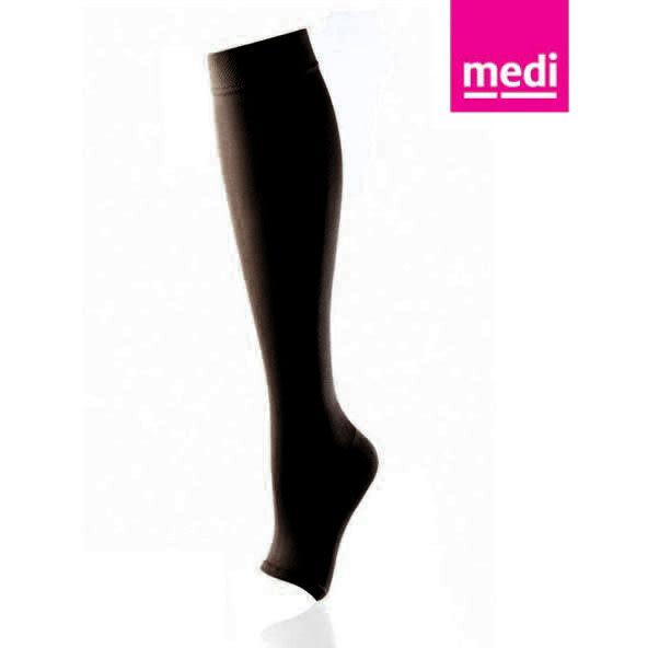 美締 medi 專業醫療彈性襪  機能型小腿襪 ccl.2 黑色、露趾 (單件) 德國進口【杏一】
