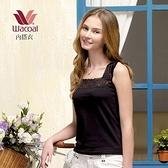 【南紡購物中心】【華歌爾】內搭 M-LL寬蕾絲無袖襯衣(黑)