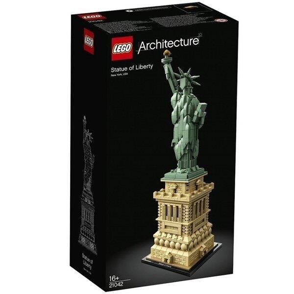 【南紡購物中心】【LEGO 樂高積木】世界建築Architecture系列-自由女神 建築系列21042