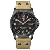 戰場系列藍寶鏡面腕錶-PVD黑x卡其時標/45mm LUMINOX 雷明時