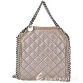 Stella McCartney Falabella Quilted 菱格兩用包(卡其色) 1530384-63