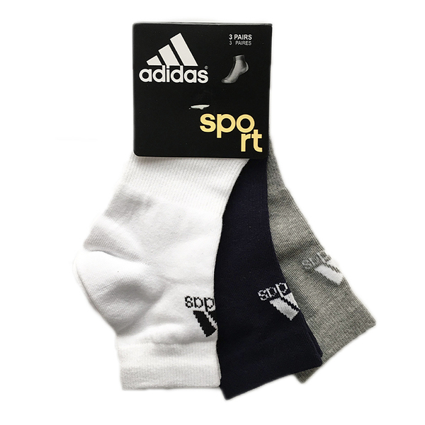 Adidas Quarter Socks [F78733] 短筒襪 透氣 舒適 彈性 男女 3雙入