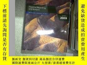 二手書博民逛書店FINANCIAL罕見REPORTING AND ANALYSIS LEVEL I 2009 2009年第一級財務
