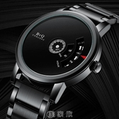 蟲洞無指針概念手錶男韓版學生非機械男士潮流簡約石英錶防水男錶 [快速出貨]