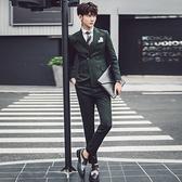 西裝套裝含西裝外套+西裝褲(三件套)-韓版獨特剪裁設計婚禮男西服3色73hc44【時尚巴黎】