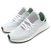 adidas 休閒慢跑鞋 Deerupt Runner W 白 綠 網格設計 舒適中底 復古外型 女鞋 運動鞋【PUMP306】 CQ2911