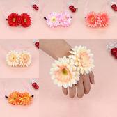 韓國兒童頭髮飾品女寶寶花環蝴蝶結頭箍女孩發卡公主兒童表演手環─預購CH5706