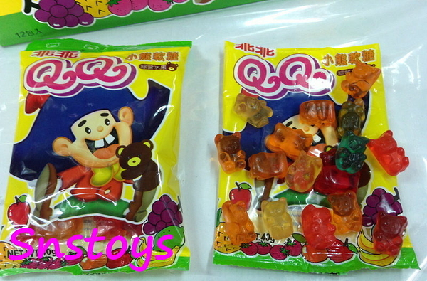sns  古早味 乖乖 QQ 小熊軟糖 綜合水果 QQ軟糖 水果QQ軟糖(12入)另有 可樂 口味