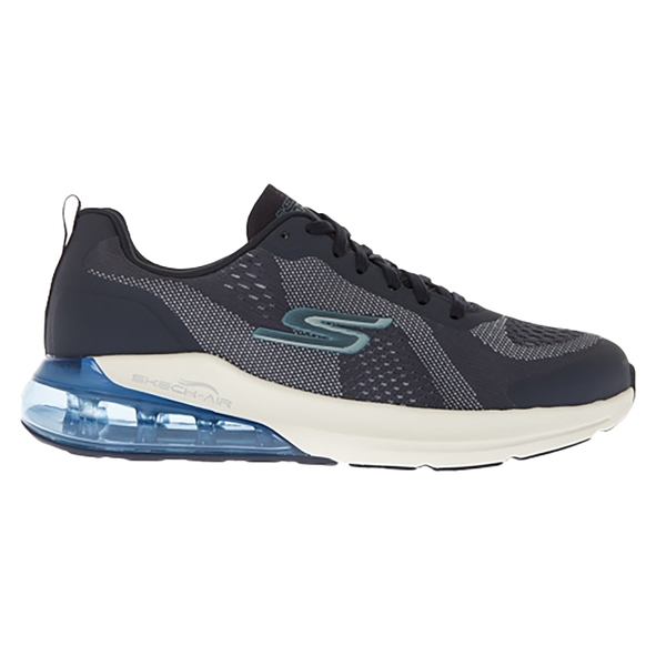 SKECHERS 男慢跑系列GORUN AIR輕便靈敏的ULTRA GO中底 後腳跟透明氣墊大底 55182NVY 灰藍