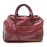 BALENCIAGA 巴黎世家 紅色羊皮手提包 the Town Handbag 409339【BRAND OFF】