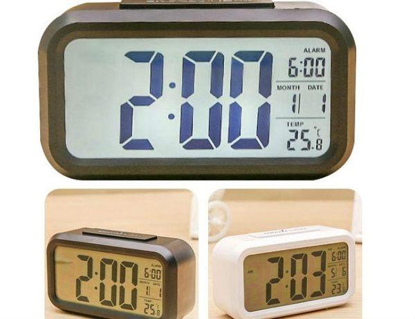 【台灣現貨直接發】電子鬧鐘 時鐘 時鐘 升級溫度計 LED鬧鐘 果凍鬧鐘 (不可用鹼性電池)