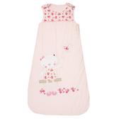 Luvena Fortuna Snuggle Baby 粉紅玫瑰小貓天鵝絨嬰兒防踢睡袋E6388