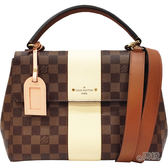 【Louis Vuitton 路易威登】N40133 經典Damier BOND STREET手提/肩背仕女包(奶油色)