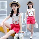 童裝女童夏裝套裝新款韓版背心短褲休閒夏季中大童兩件套 一米陽光