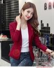 小西服女裝紅色小西裝女短款新款春秋韓版女士修身洋氣顯瘦休閒西服外套【風之海】