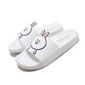 Skechers 拖鞋 Line Friends Pop Ups-Pal Parade 白 黑 女鞋 兔兔 Cony 聯名 限量【PUMP306】 31644WHT