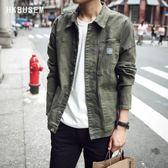 外套男 新品男士夾克韓版修身工裝外套男復古黑色夾克潮男棒球服   igo  琉璃美衣