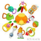澳貝0-1歲嬰兒/寶寶玩具5只8只10只禮盒裝放心煮牙膠搖鈴 晴天時尚館