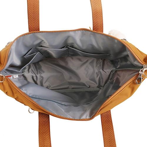 Kanana卡娜娜 多功能尼龍手提肩背中型托特包(橙色)241050-14
